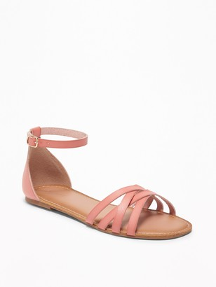 Old Navy Strappy Ankle-Strap Sandals for Women