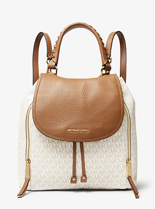 Michael Kors Viv Large Logo and Leather Backpack