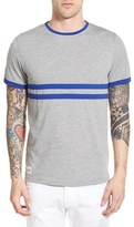 NATIVE YOUTH Men's Contrast Stripe Ringer Crewneck T-Shirt