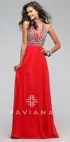 Faviana Empire Rhinestone Chiffon A-line Prom Dress