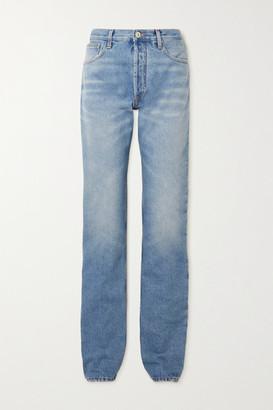 ATTICO High-rise Straight-leg Jeans - Blue