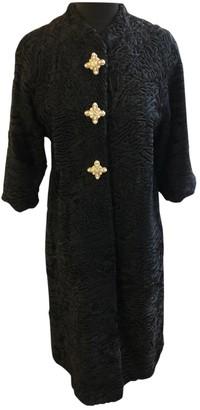 Astrakhan Non Signe / Unsigned Oversize Black Coat for Women