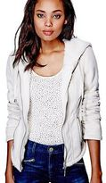 G by Guess GByGUESS Women's Lenzie Faux-Suede Bomber Hoodie