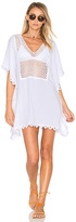 Seafolly Lace Insert Caftan in White. - size L (also in )
