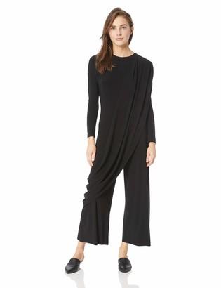Norma Kamali Women's Long Sleeve Draped Cropped Jumpsuit