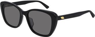 Bottega Veneta Squared Acetate Cat-Eye Sunglasses