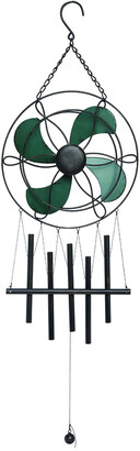 Transpac Metal Pewter Spring Fan Chime