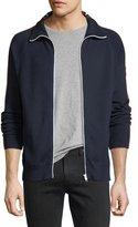 Belstaff Stripe-Trim Zip-Front Sweater