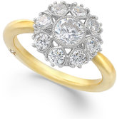 Marchesa Star by Certified Diamond Engagement Ring in 18k Gold (1-1/3 ct. t.w.)