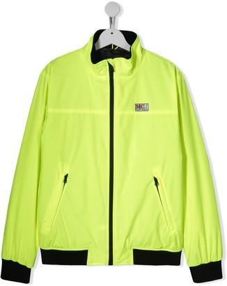 Mc2 Saint Barth Kids TEEN neon logo jacket