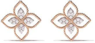 Roberto Coin 18kt rose gold Princess Flower diamond earrings
