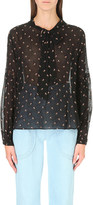 Ulla Johnson Oelia floral-embroidered woven blouse
