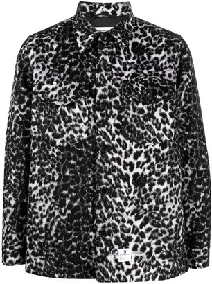 DEPARTMENT 5 Animal Print Button-Up Jacket
