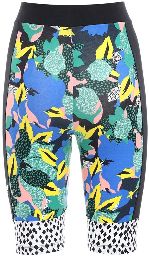 Thumbnail for your product : adidas Printed Stretch Cotton Biker Shorts