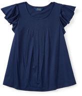 Ralph Lauren Flutter-Sleeve Jersey Top