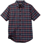 RVCA That&ll Do Plaid Short Sleeve Shirt (Big Boys)