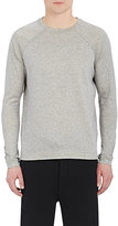 Barneys New York MEN'S SIDE-ZIP LONG-SLEEVE T-SHIRT-GREY SIZE S
