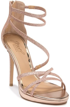 Badgley Mischka Florencia Glitter Strap Sandal