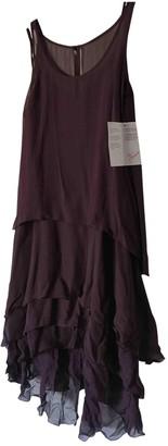 Karl Lagerfeld Paris Pour H&M Pour H&m Burgundy Silk Dress for Women