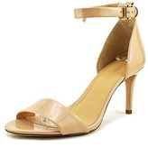 MICHAEL Michael Kors Sienna Md Women Open Toe Patent Leather Nude Sandals.