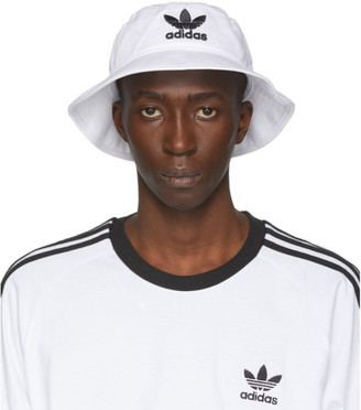 adidas White and Black Adicolor Bucket Hat