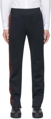Daniel W. Fletcher Navy Contrast Panel Trousers