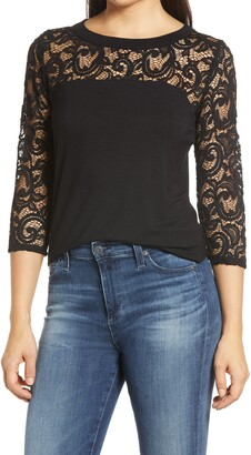 Loveappella Lace Open Back Top