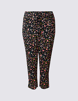 M&S Collection PLUS Cropped Tapered Leg Trousers