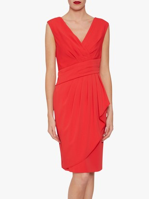 Gina Bacconi Doro Moss Crepe Dress