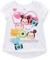 Children's Apparel Network Disney Tsum Tsum White '#groupselfie' Tee - Toddler