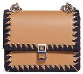 Fendi Mini Kan I Whipstitch Leather Shoulder Bag - Brown