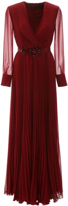 Max Mara PLEATED GENARCA DRESS 42 Red