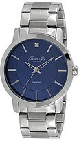 Kenneth Cole New York Rock Out Blue Dial Round Watch with Stainless Steel Bracelet