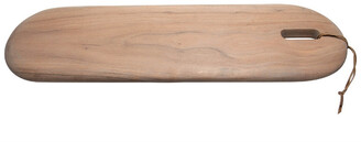 BIDKhome Acacia Wood Cutting Board With Leather Strap