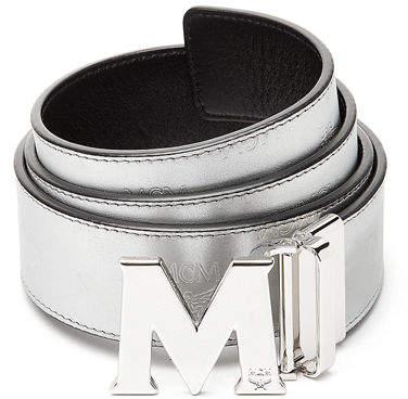 MCM Metallic Embossed Visetos Belt