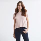 Apricot Pink Plain Cowl Back T-shirt