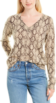Minnie Rose Printed Cashmere Sweater