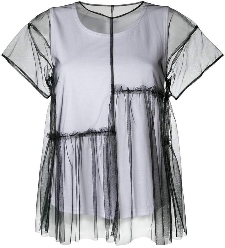 P.A.R.O.S.H. layered tulle T-shirt