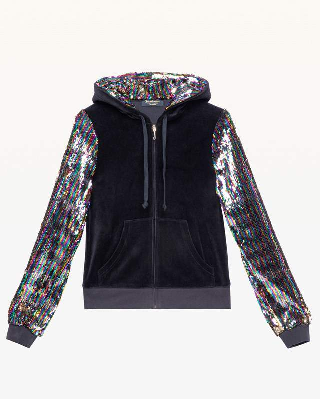 Juicy Couture Candy Glam Sequin Velour Robertson Jacket