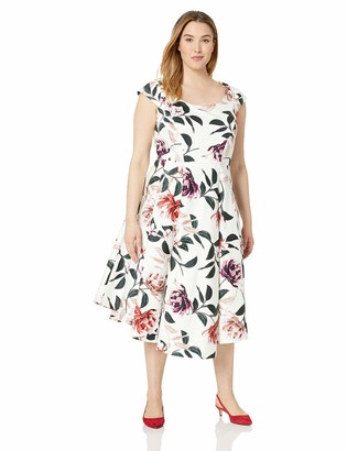 Calvin Klein Women's Size Cap Sleeve Hi Low Dress