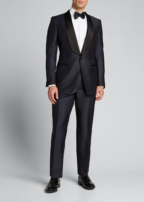 Tom Ford O'Connor Mohair/Silk-Blend Shawl-Collar Tuxedo, Navy