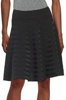 Ivanka Trump Ribbed Flared Skirt