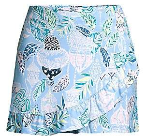 Lilly Pulitzer Women's Faye Printed Ruffled Skort
