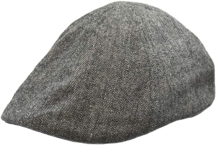 London Fog Mini Herringbone Wool-Blend Duckbill Ivy Cap