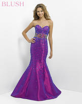 Blush Lingerie Strapless Embellished Mermaid Gown 9704