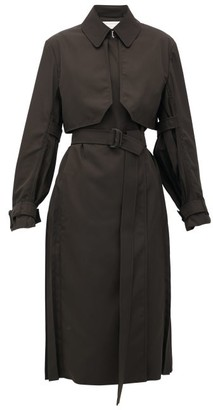 Sportmax Karim Trench Coat - Womens - Dark Green