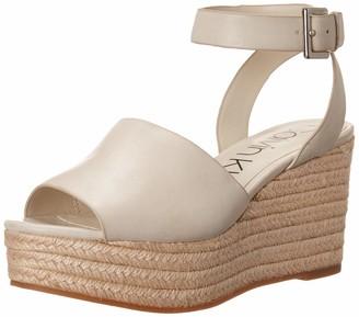 Calvin Klein Women's Chyna Wedge Sandal Off White