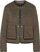 Alexander Wang Leather-piped quilted cotton-blend jacket