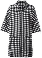 A.P.C. checked zipped coat
