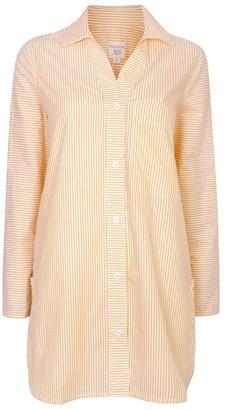 Nologo Chic Long Island Cotton Stripe Shirt - Daffodil Yellow